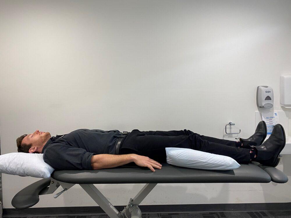 James sleep position lying on back