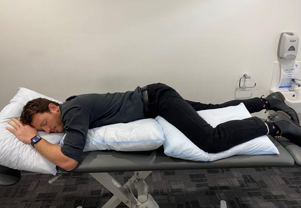 james sleep position lying on front 2